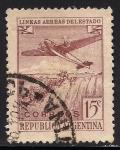 Sellos de America - Argentina -  AVI�N Y CATARATAS DEL IGUAZU.