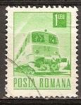 Sellos del Mundo : Europa : Rumania : Transp. y telecomu.Tren,diesel-eléctrico(p).