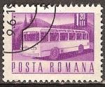 Sellos del Mundo : Europa : Rumania : Transportes y telecomunicaciones-Bús de motor Coach (p).