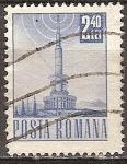 Sellos del Mundo : Europa : Rumania : Transp. y telecomu.Torre de transmisión de televisión(p).