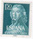 Sellos de Europa - España -  II Centenrio LEANDRO MORATÍN (U)