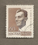 Stamps Hungary -  Joliot Curie