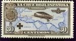 Stamps : Europe : Spain :  Avión Breguet 19. Vuelo Madrid-Manila (Pro Cruz Roja Española)