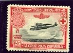 Stamps : Europe : Spain :  Avión Plus Ultra Travesía Palos-Buenos Aires (Pro Cruz Roja Española)