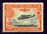 Stamps : Europe : Slovenia :  Avión Plus Ultra Travesía Palos-Buenos Aires (Pro Cruz Roja Española)