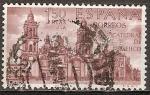 Sellos de Europa - España -  Los exploradores y colonizadores de América.Catedral de Méjico.