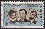 Sellos del Mundo : America : El_Salvador : PEDRO PABLO CASTILLO, DOMINGO ANTONIO DE LARA Y SANTIAGO JOSÉ CELIS.