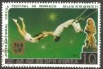 Sellos del Mundo : Asia : Corea_del_norte : 1900 - Festival Internacional del Circo, en Mónaco, trapecistas