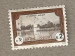 Sellos del Mundo : Asia : Nepal : Palacio en lago
