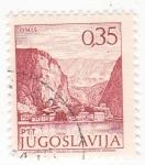 Stamps Yugoslavia -  vistas de Omís