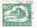Sellos de Europa - Rumania -  Máquina cosechadora