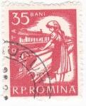 Sellos de Europa - Rumania -  Obrera textil