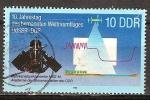 Sellos de Europa - Alemania -  10a aniversario de los vuelos espaciales tripulados, la URSS y la RDA - espectrómetro multicanal MKS