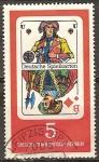 Sellos de Europa - Alemania -  Naipe alemán-Jack de diamantes-DDR.