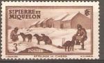 Sellos del Mundo : America : San_Pierre_&_Miquelon :  PERROS  DE  TIRO