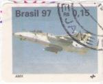 Sellos de America - Brasil -  Avión- AMX