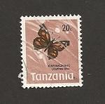Stamps Tanzania -  Mariposa Lybathea