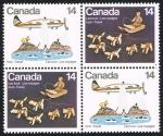 Sellos de America - Canadá -  LES INUIT. LES VOYAGES