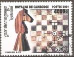 Sellos de Asia - Camboya -  CABALLO  Y  TABLERO