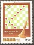 Stamps Nicaragua -  MOVIMIENTO  DEL  ALFIL