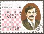 Stamps Laos -  EMANUEL   LASKER