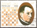 Stamps Laos -  J. R.   CAPABLANCA
