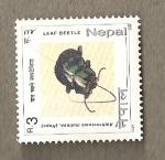 Stamps Asia - Nepal -  Escarabajo de las hojas