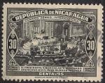Sellos de America - Nicaragua -  EL PRESIDENTE A SOMOZA ANTE EL SENADO AMERICANO, MAYO 1939