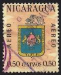 Sellos de America - Nicaragua -  ESCUDO DE ARMAS CIUDAD DE LEON.