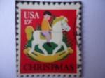 Stamps United States -  Navidad.