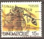 Sellos de Asia - Singapur -  AVISPA  ALFARERO
