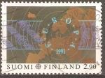 Stamps Finland -  SATELITES  Y  ANTENAS  CIRCULARES