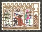 Stamps United Kingdom -  707 - Tres personajes cantando