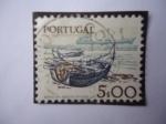 Stamps Portugal -  Barco moderno y barco de vela