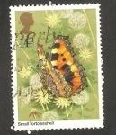 Sellos de Europa - Reino Unido -  992 - Mariposa aglais urticae