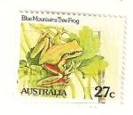 Stamps : Oceania : Australia :  rana de las montañas azules
