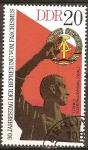 Sellos de Europa - Alemania -  30a Aniv de la Liberación del Fascismo.Detalle de Buchenwald memorial-DDR.
