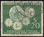 Sellos de America - Chile -  25 ANIVERSARIO DE LA UNIVERSIDAD TECNICA.-FEDERICO SANTA MARIA, VALPARAISO.