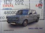 Stamps Spain -  Coches de época-SIMCA 1000, año 1961 (4de4)