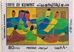 Sellos del Mundo : Asia : Kuwait : Niños pintura