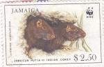 Stamps Jamaica -  Jutía de Jamaica, conejo Indio