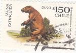 Sellos de America - Chile -  fauna Extinguida-MILONDON