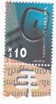 Sellos de Asia - Israel -  Alfabeto Hebreo-SAMEJ