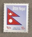 Stamps Asia - Nepal -  Bandera Nepal