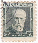 Stamps : Europe : Czechoslovakia :  Tomas Masaryk