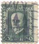 Sellos de Europa - Checoslovaquia -  Tomas Masaryk