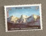 Sellos del Mundo : Asia : Nepal : Montaña Ganesh