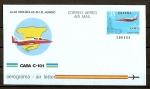 Stamps : Europe : Spain :  Aerograma / Avion Casa C-101.