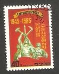 Stamps North Korea -  1800 E - 40 anivº del W.P.K. (partido de los trabajadores coreanos)