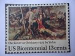 Sellos de America - Estados Unidos -  Herkimer at Oriskany 1777 by yohn